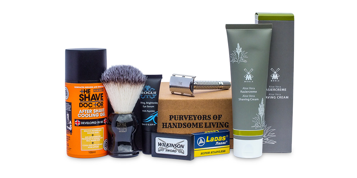 The Personal Barber September box of wet shaving goods