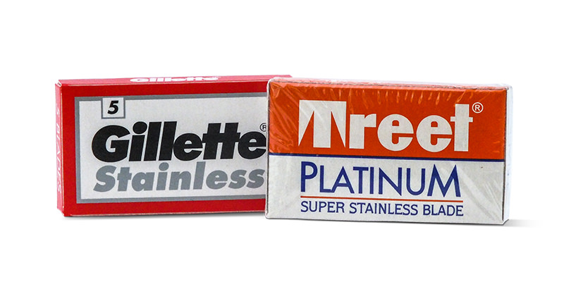 Gillette Stainless Reds and Treet Platinum Double edged blades