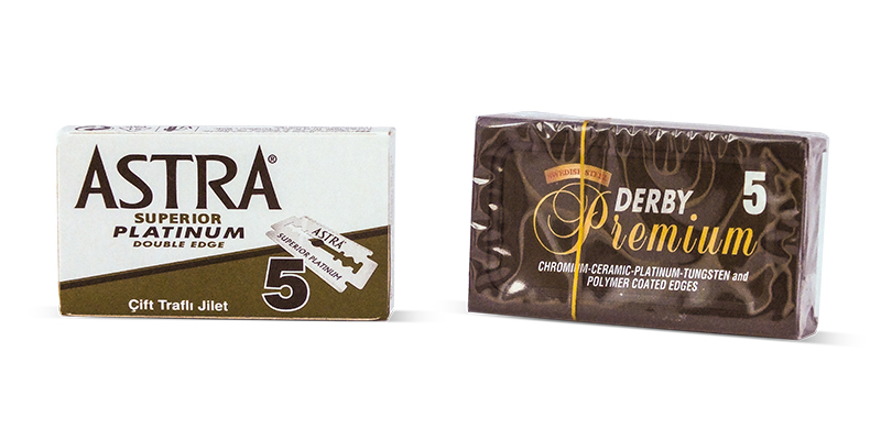 Derby Premium and Astra Platinum DE Blades