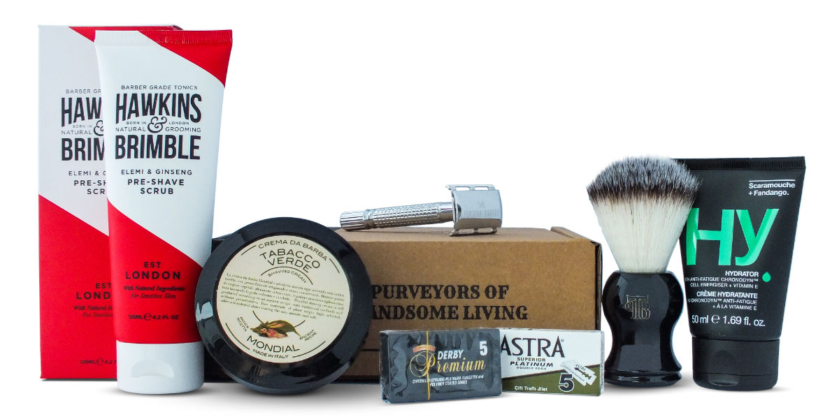 The Personal Barber January 17 shaving kit