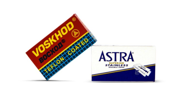 Astra and Voskhod double edge razor blades
