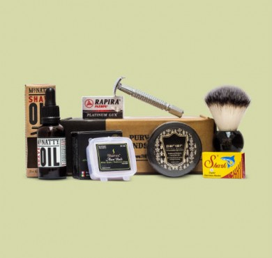 The Personal Barber aug september shaving kit
