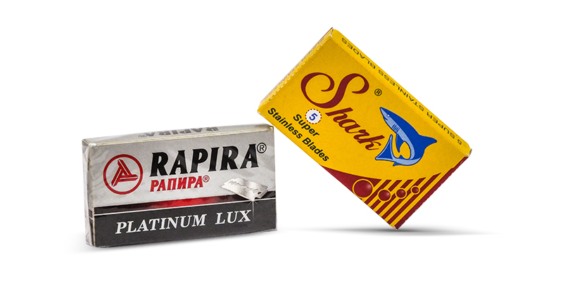 Shark de blades and rapira lux razors