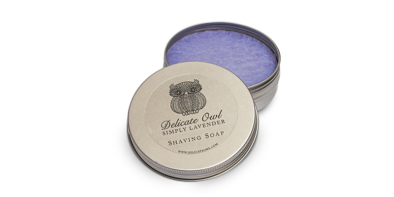 Lavender shaving soap from Delicate Owl