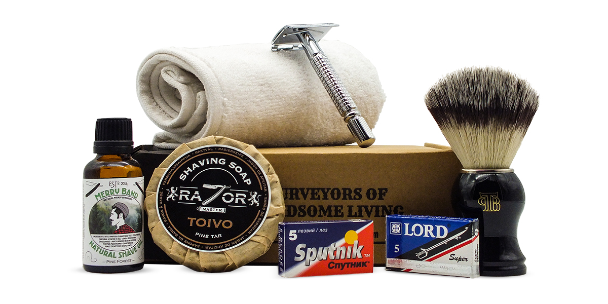 Jan/Feb shaving subscription box The Personal Barber