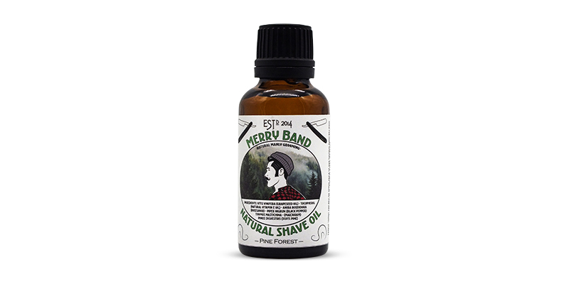 Pre-shaving oil Merry Band Beard Co Pine scent