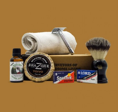 The Personal Barber wet shaving kit January 2018