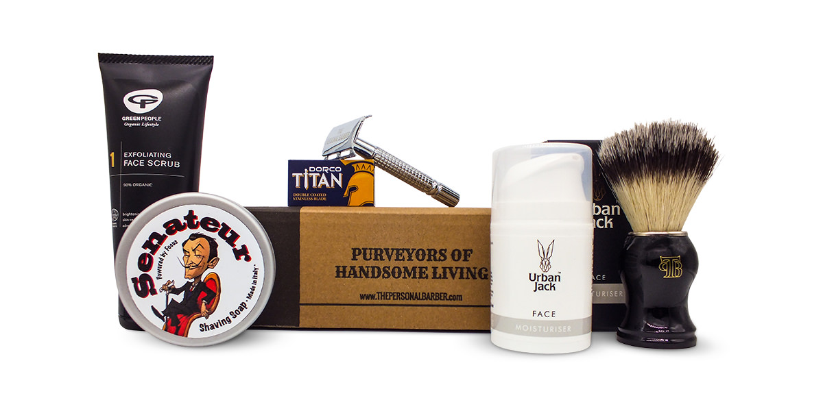 wet shaving kit aug september 18 the personal barber subscription