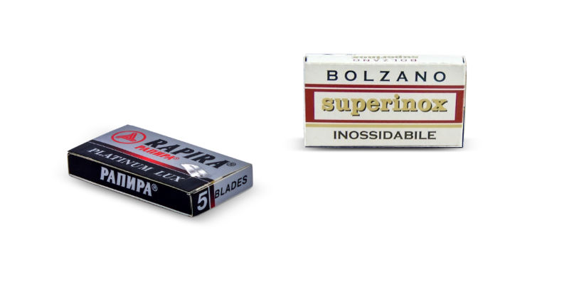 Double edge razor blades - rapira platinum lux and bolzano