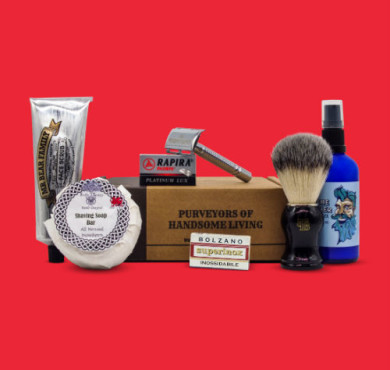 May June Wet shaving subscription box featured image red background