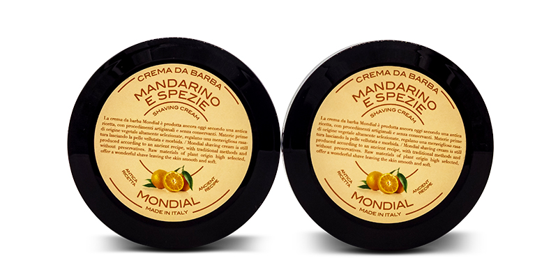 Mandarin and spice shaving cream Mondial