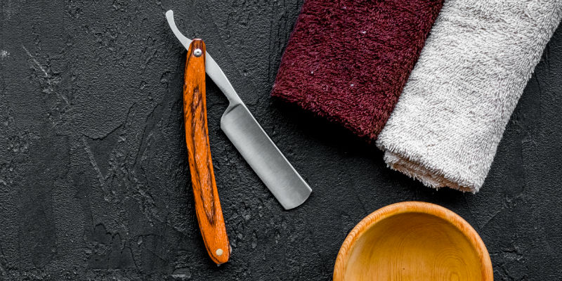 zero waste shaving: cut throat razor