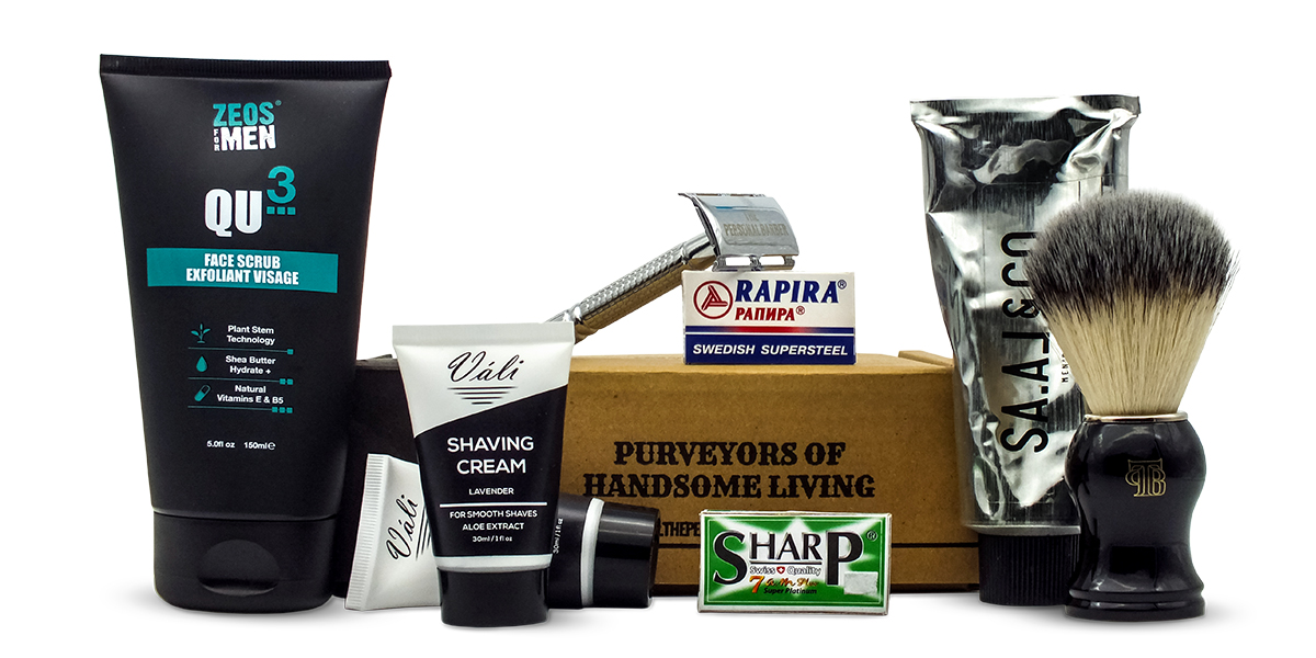 The Personal Barber OctoberNov 2019 shaving kit