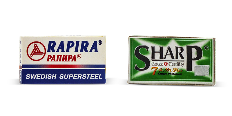 De razor blades rapira swedish steel and sharp 7am super platinum