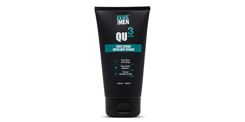 Pre-shave scrub zeos for men