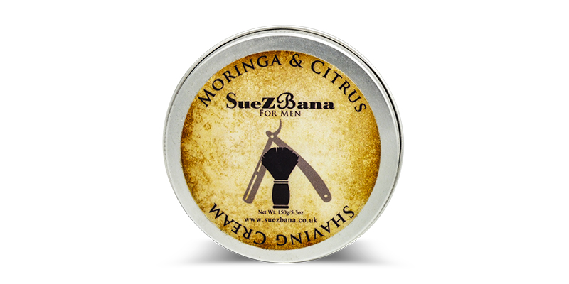 The Personal Barber featured shaving cream, Moringa and Citrus from Suezbana