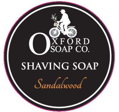 oxford soap co shaving soap label with cut line